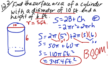 Section 12.2 Surface Area Of Cylinder