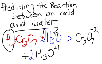 Predicting The Reaction Between An Acid And Water