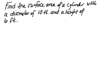 Section 12.2 Surface Area Of A Cylinder