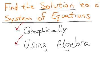 Solving A Linear System Of Equations