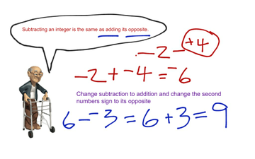 Topic 15-5 Subtracting Integers