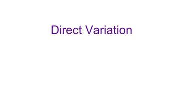 Direct Variation Answers