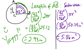 Area, Circumference, Arc Length, Area Sector