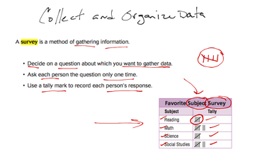 Collecting and Organizing Data