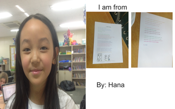 Hana I Am From Poem