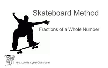 Skateboard Method To Find Fractions Of A Whole Number