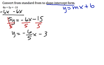 standard form to slope intercept  Graphing Lines - Lessons - Tes Teach